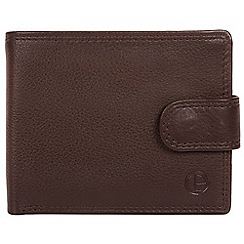 Pure Luxuries London - Brown 'Spitfire' bi-fold leather wallet