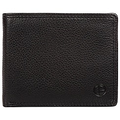Pure Luxuries London - Black 'Hurricane' bi-fold leather wallet