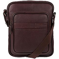Portobello W11 - Oxblood 'Erikkson' buffalo leather dispatch bag