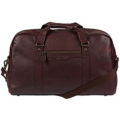 Portobello W11 - Oxblood 'Armstrong' buffalo leather holdall