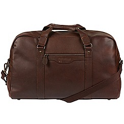 Portobello W11 - Walnut 'Armstrong' buffalo leather holdall