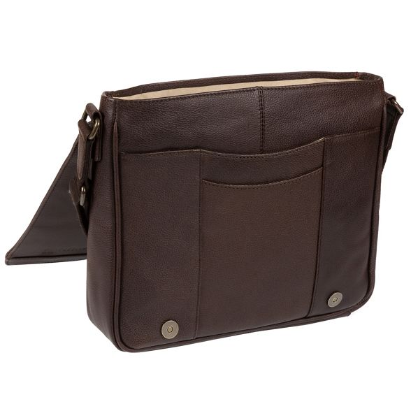 Portobello bag W11 'Blake' Hickory messenger buffalo leather wTwrx