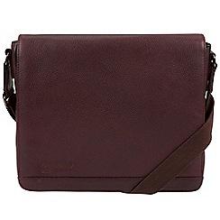 Portobello W11 - Oxblood 'Blake' buffalo leather messenger bag