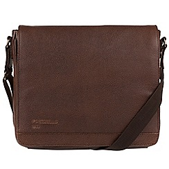 Portobello W11 - Walnut 'Blake' buffalo leather messenger bag