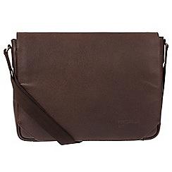 Portobello W11 - Hickory 'Keon' buffalo leather messenger bag