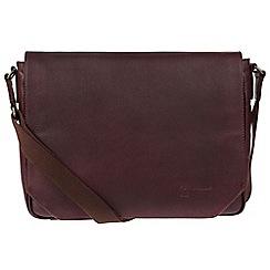 Portobello W11 - Oxblood 'Keon' buffalo leather messenger bag