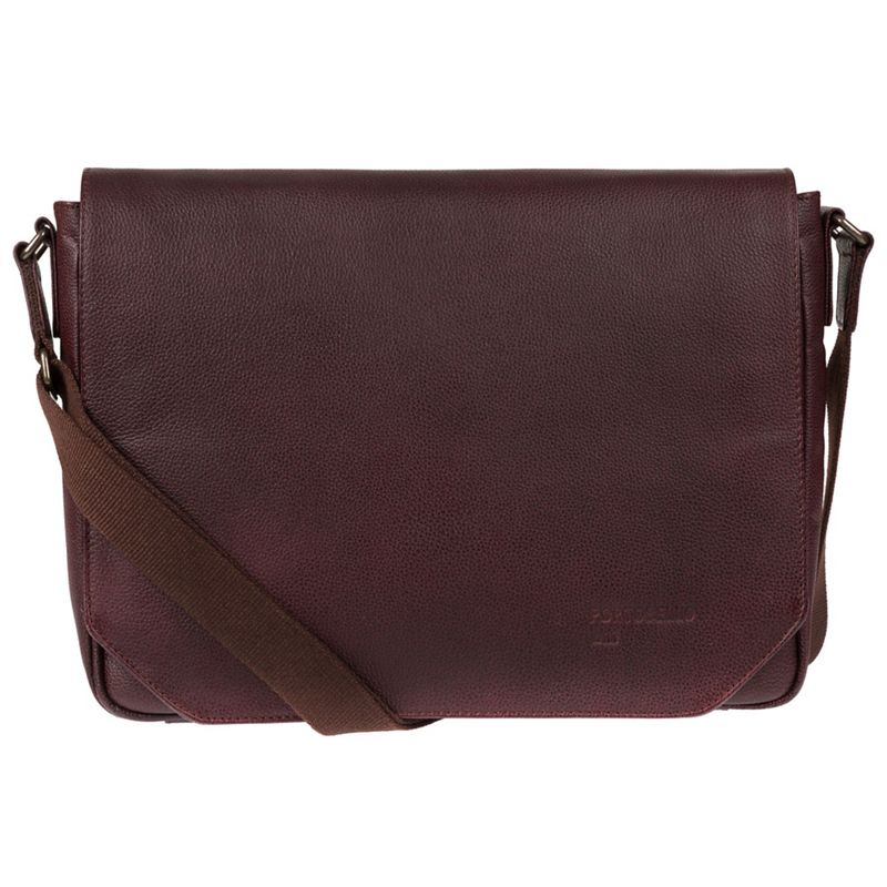 Portobello W11 - Oxblood Keon Buffalo Leather Messenger Bag