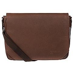 Portobello W11 - Walnut 'Keon' buffalo leather messenger bag