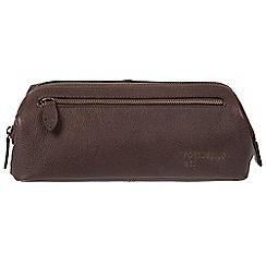 Portobello W11 - Hickory 'Beck' Buffalo Leather Washbag