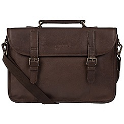 Portobello W11 - Hickory 'Gibson' buffalo leather briefcase