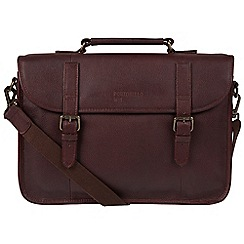 Portobello W11 - Hickory 'Oxblood' buffalo leather briefcase