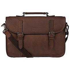 Portobello W11 - Walnut 'Gibson' buffalo leather briefcase