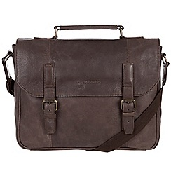 Portobello W11 - Hickory 'Hugh' buffalo leather briefcase
