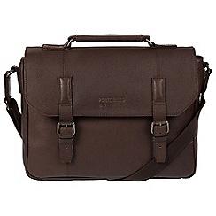 Portobello W11 - Hickory 'Hugh' buffalo leather briefcase
