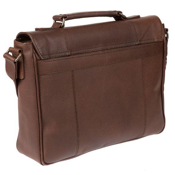 buffalo Walnut W11 Portobello briefcase 'Hugh' leather qT6fZ1x