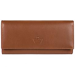 Portobello W11 - Tan 'Luna' fine leather RFID purse
