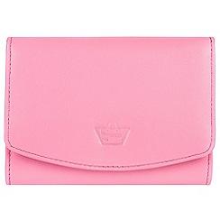 Portobello W11 - Pink 'Star' natural leather RFID purse