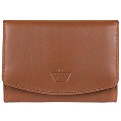 Portobello W11 - Tan 'Star' natural leather RFID purse