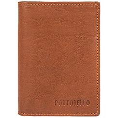 Portobello W11 - Tan 'Deano' RFID business card wallet