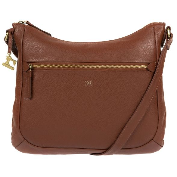 cross handmade bag leather body by 'Kay' Made Stitch Cognac Pw8zcYOxTq