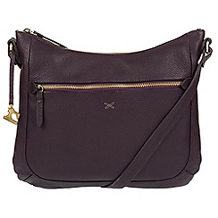 Made by Stitch - Plum 'Kay' handmade leather cross-body bag