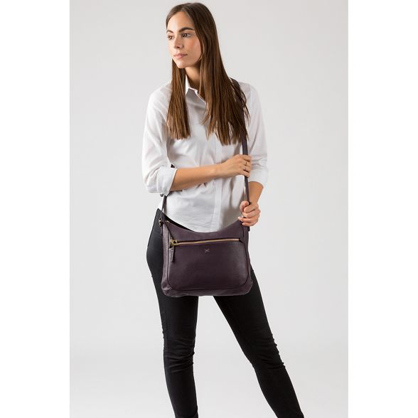cross bag leather Made handmade Plum Stitch body 'Kay' by wHqZA46