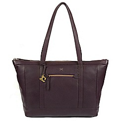 Made by Stitch - Plum 'Ellis' handmade leather shoulder bag