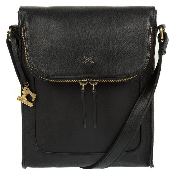 handcrafted Made Stitch leather 'Sophia' Black cross bag body by 1wrnIq51