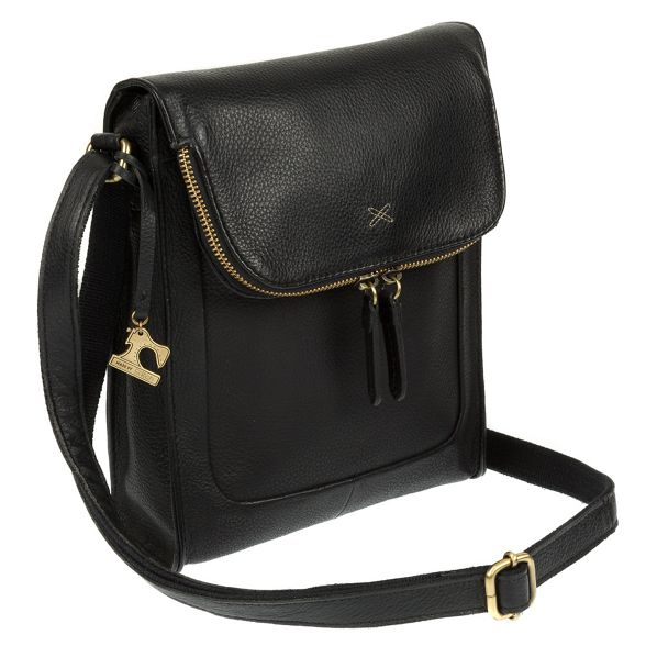 body Stitch bag cross leather Black Made handcrafted 'Sophia' by Fq5wgq0xa