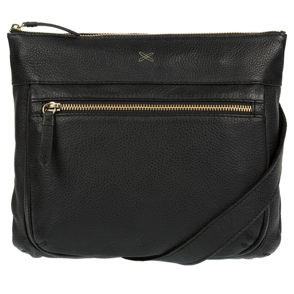 handmade by leather Black bag 'Victoria' Made body cross Stitch xCwgTF6
