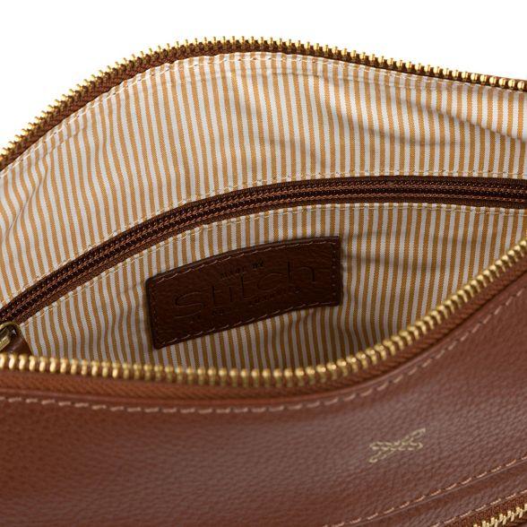 Cognac Stitch 'Victoria' body leather Made bag by cross handmade q5Eqwta