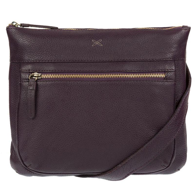 Made by Stitch - Plum Victoria Handmade Leather Cross-Body Bag