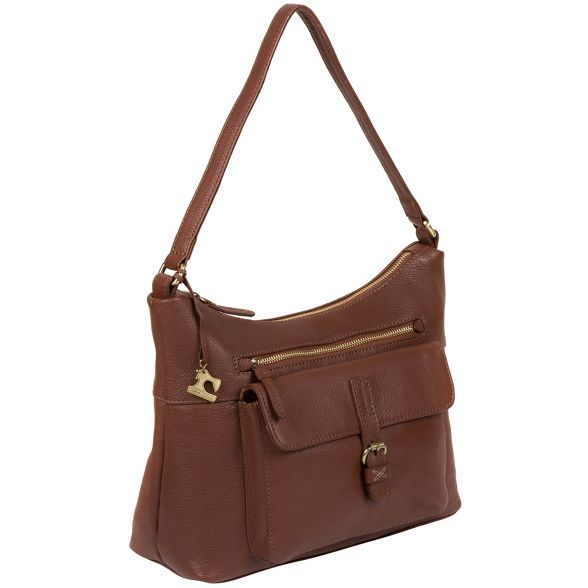 by handmade Made 'Laura' bag leather Stitch Cognac 7adwwRqUP