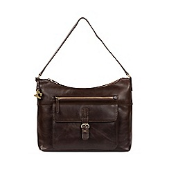 Made by Stitch - Dark chocolate 'Laura' handmade leather shoulder bag