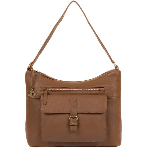 'Laura' handmade bag tan Made Dark leather Stitch by xqgZI7p