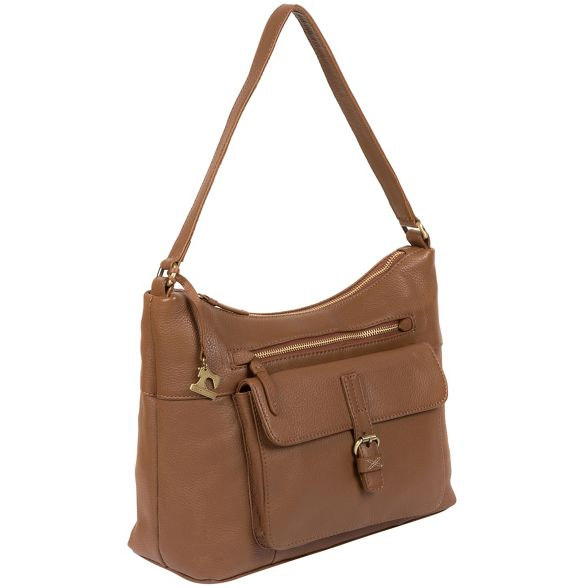 by bag Dark handmade Stitch leather 'Laura' Made tan dvAqpZwdx
