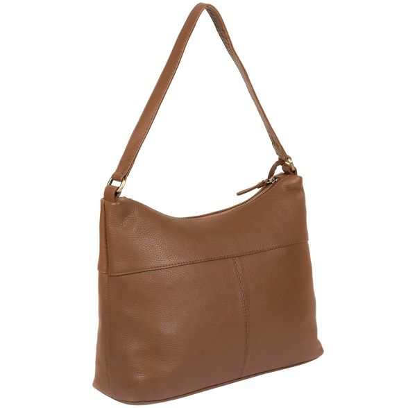 'Laura' handmade by Stitch bag leather Made Dark tan TvzTng