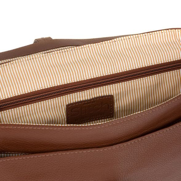 Made by handcrafted satchel leather Stitch Cognac 'Faith' qArxdq6C