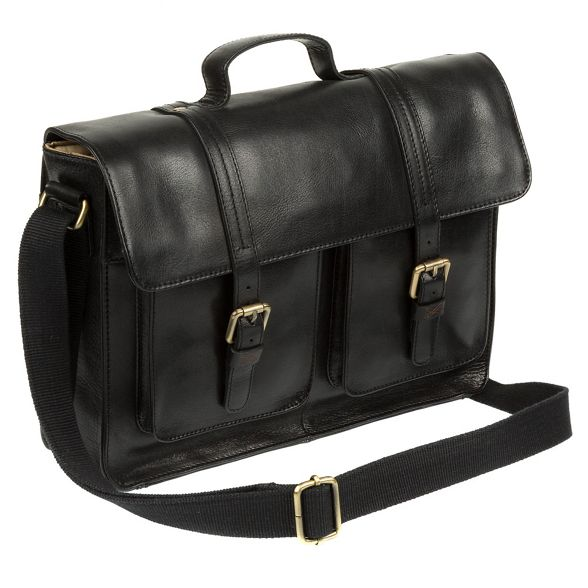 leather satchel handcrafted Stitch Made 'Garsdale' Black by qwXUHY