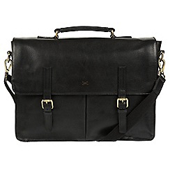 Made by Stitch - Black 'Lorton' handmade leather briefcase