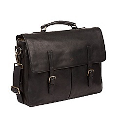 Made by Stitch - Black 'Lorton' Handcrafted Leather Briefcase