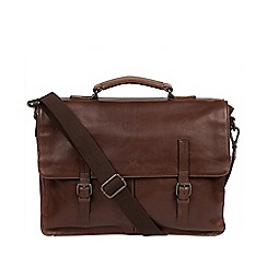 Conkca London - Malt 'Lorton' leather handcrafted briefcase