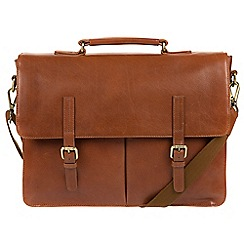 Made by Stitch - Whiskey 'Lorton' handmade leather briefcase