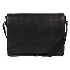 Made by Stitch - Black 'Tom' handmade buffalo leather messenger bag