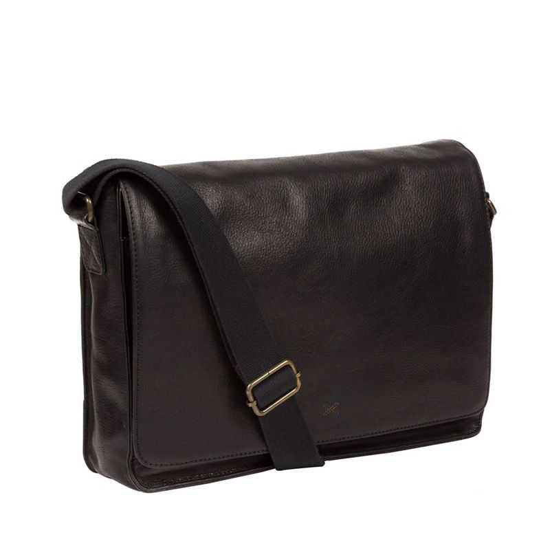Made by Stitch - Black Tom Handcrafted Leather Messenger Bag