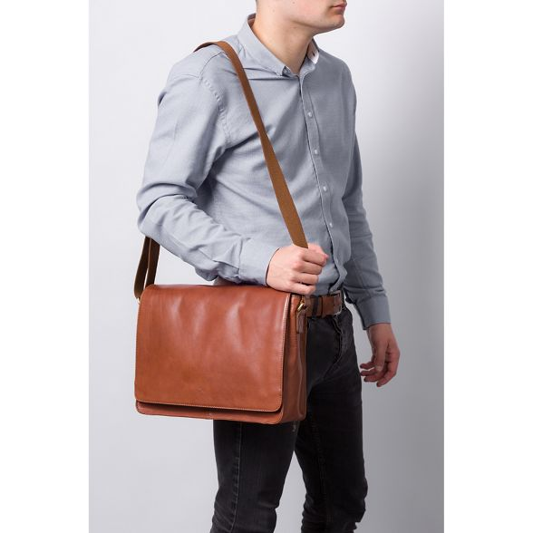 Made handmade Whiskey 'Tom' bag by leather buffalo Stitch messenger rwTrBqa