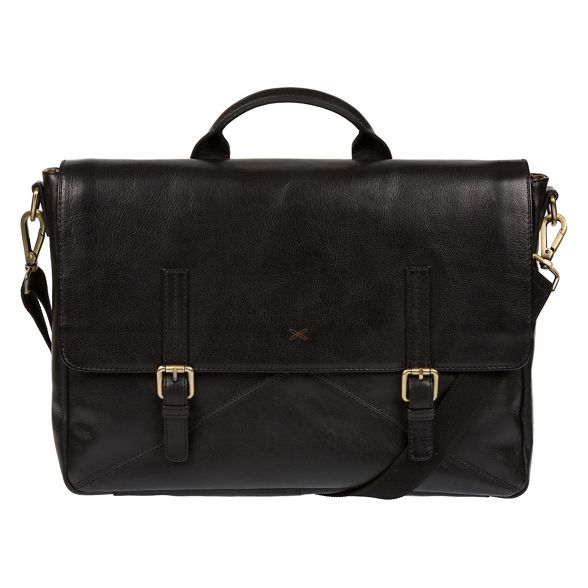 buffalo 'Big Stitch by Made leather Andrew' handmade Black satchel laptop q14xOxY