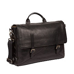 Made by Stitch - Black  Big Andrew  Handcrafted Leather Laptop Bag ebe98d46d27b8