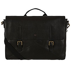 Made by Stitch - Liquorice 'Big Andrew' handmade leather 14 laptop satchel