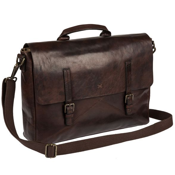 Andrew' satchel 'Big laptop Made Malt handcrafted Stitch by fHwqSa